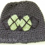 Argyle Baby Hat Crochet Pattern