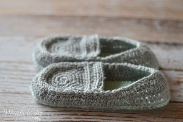Women S Loafer Slippers Crochet Pattern Page 2 Of 2