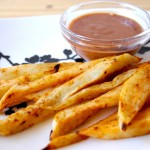 Sweet Potato Fries with BBQ Ranch Dipping Sauce