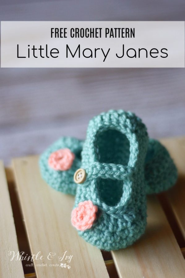 cute crochet Mary Janes for baby free crochet pattern