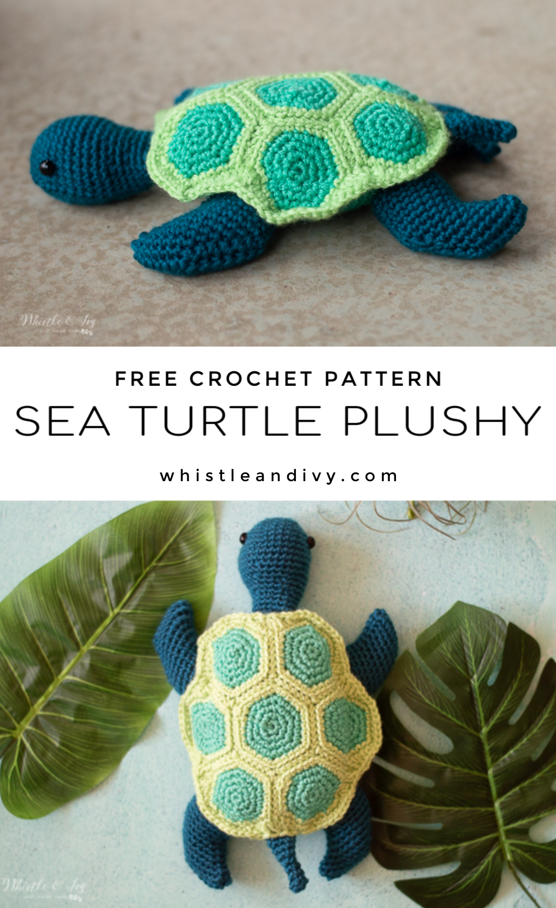 crochet sea turtle plushy toy free crochet pattern