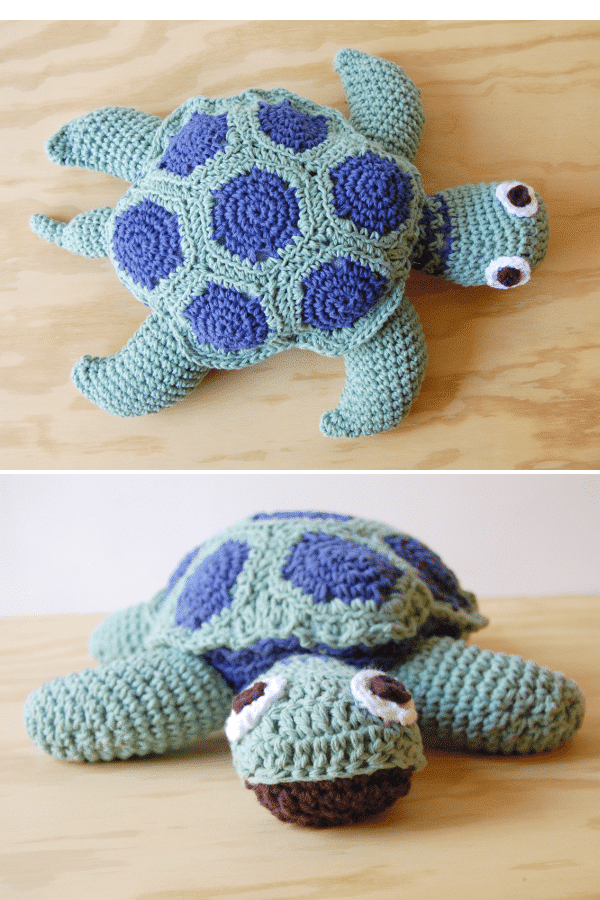 Joann's Cape Discovery Crochet Sea Turtle - Whistle and Ivy - photo #29