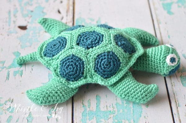 crochet sea turtle whistle and ivy