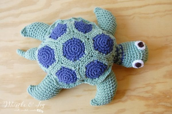 cotton crochet turtle free pattern