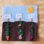 Vegetable Garden Quietbook Template