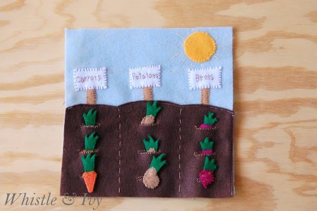 Vegetable Garden Quietbook Template - Whistle and Ivy
