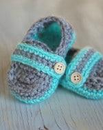 Monk Strap Booties Crochet Pattern