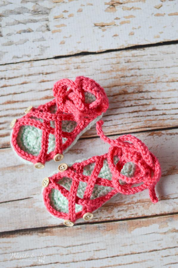 crochet gladiator sandals for baby free crochet pattern