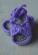 Bitty Bow Baby Sandals Pattern