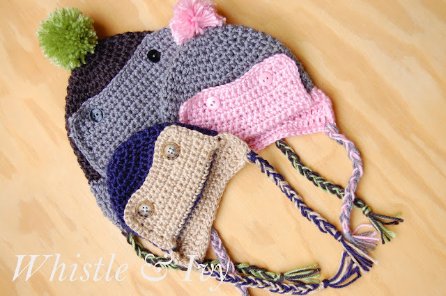 cute crochet aviator hat for baby