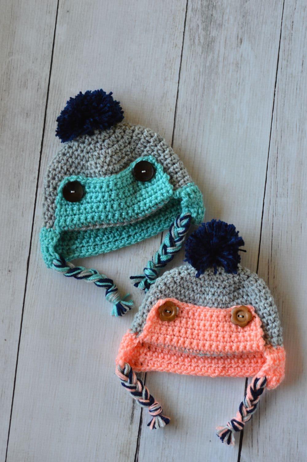 Baby Crochet Trapper Hat - Free Crochet Pattern