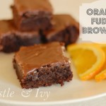 Orange Brownies with Orange Fudge Frosting