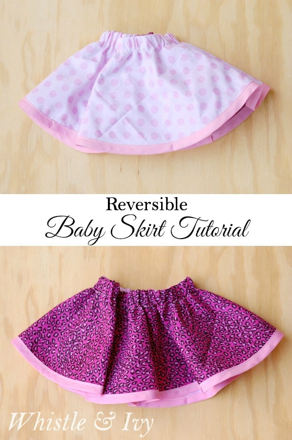 Reversible Baby Skirt Whistle And Ivy