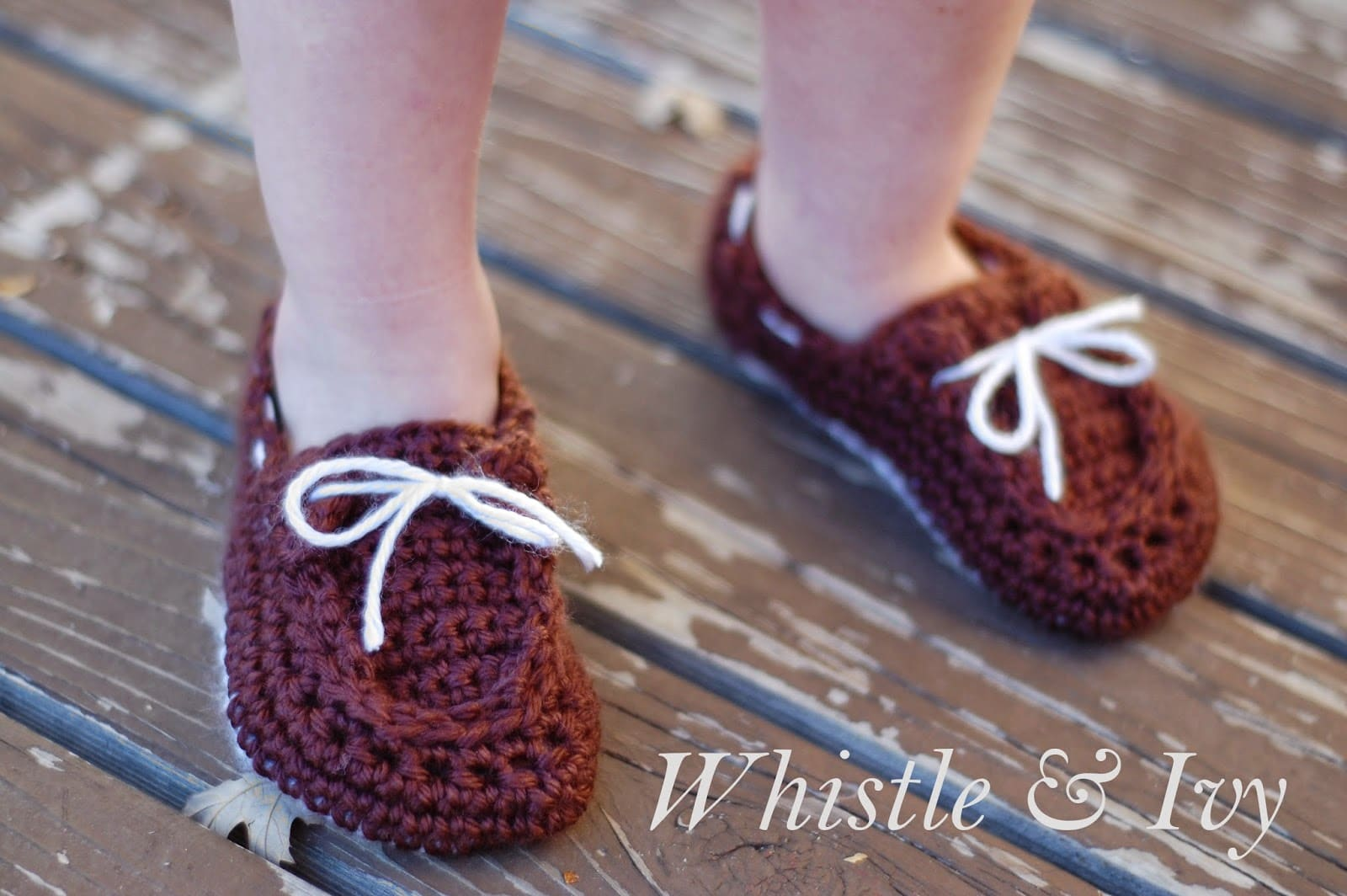 Free Crochet Pattern For Baby Boat Shoes : Baby Boat Booties - Whistle and Ivy