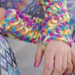 Crochet Fishnet Fingerless Gloves