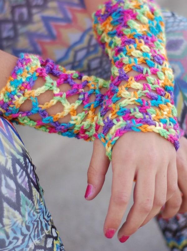 Crochet Fishnet Gloves Free Crochet Pattern Whistle And Ivy