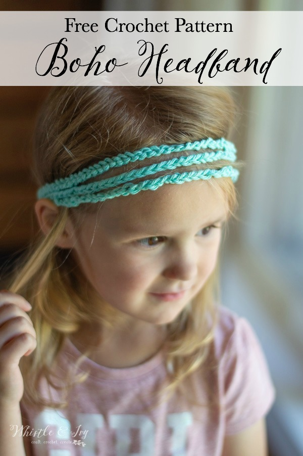 free crochet pattern boho braid headband
