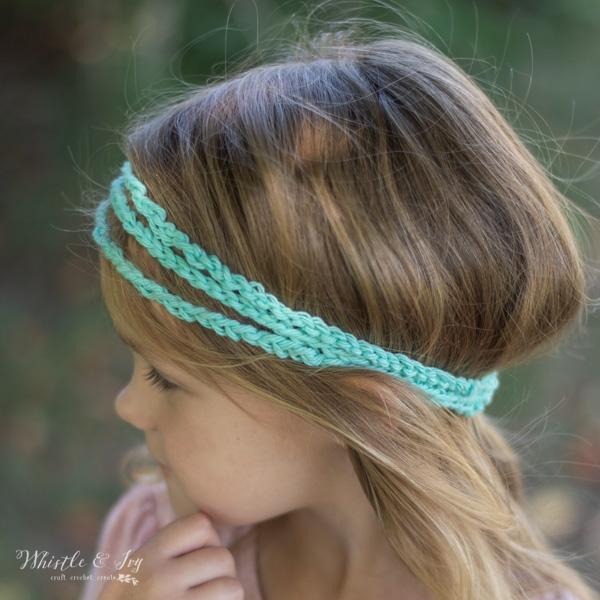 crochet headband women boho style