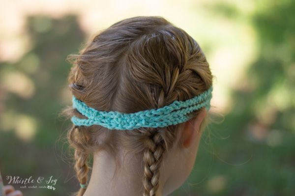 crochet boho headband free pattern