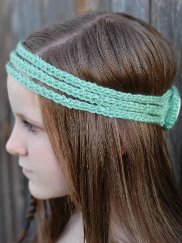 Hippie Headband Knitting Pattern : Boho Headband - Whistle and Ivy