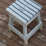 Nautical Striped Stool