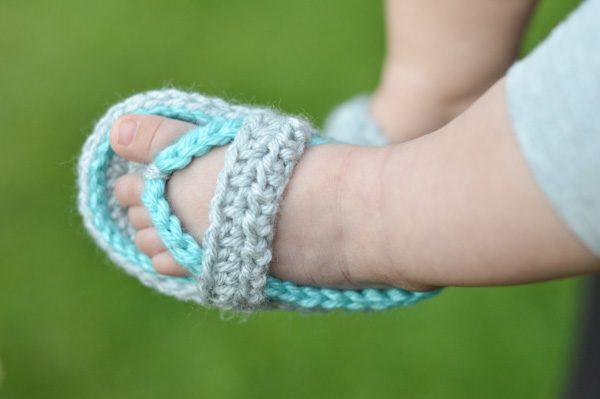 Crocheted baby flip flops crochet baby sandals baby shoes Little Flip FlopsNEWBORN Sweet Little Flip Flops
