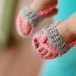 Crochet Baby Strap Flip Flop Sandals