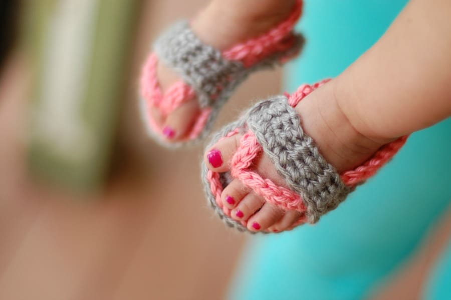 crochet baby strap flip flop sandals whistle and ivy