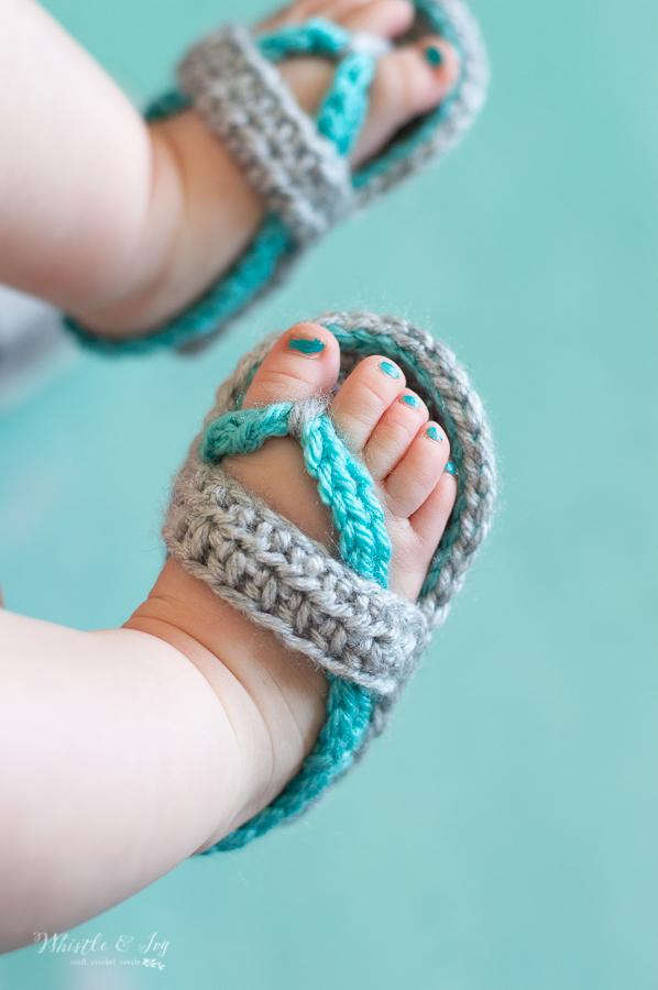 crochet baby flip-flops free crochet pattern summer sandals
