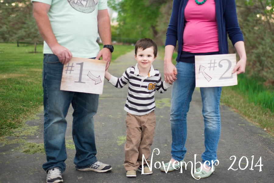 Cute family pregnancy announcement using older sibling! #pregnancy #baby