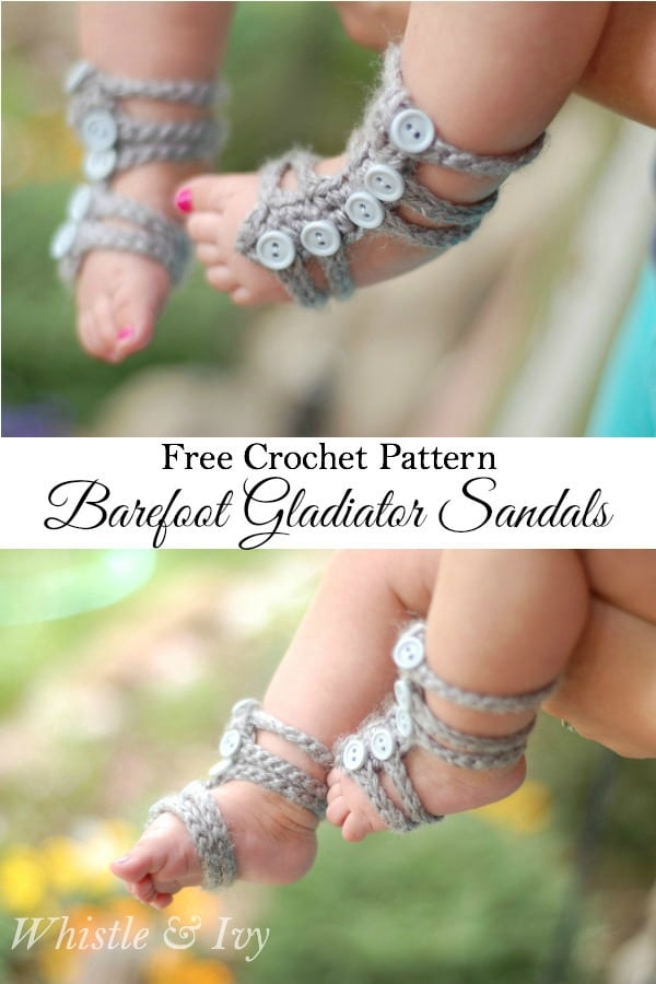 Baby Barefoot Gladiator Sandals Whistle And Ivy