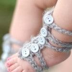Baby Barefoot Gladiator Sandals