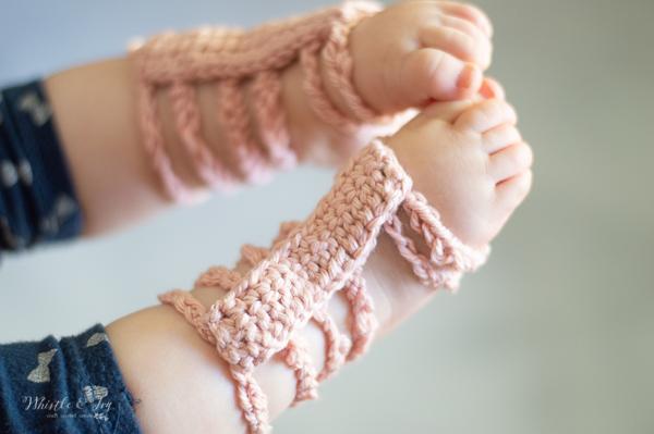 crochet baby sandals barefoot gladiator sandals