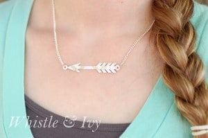 silhouettepaperarrownecklace