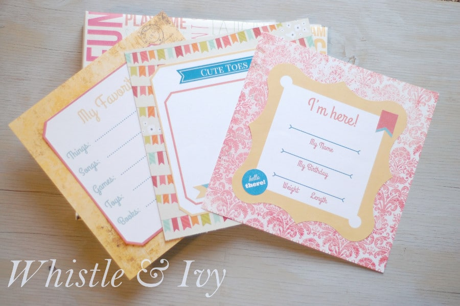 Free Printable Baby Album - Make a keepsake album with all your baby's firsts