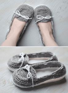 942c0f9a4 Women's Crochet Boat Slippers – Free Crochet Pattern