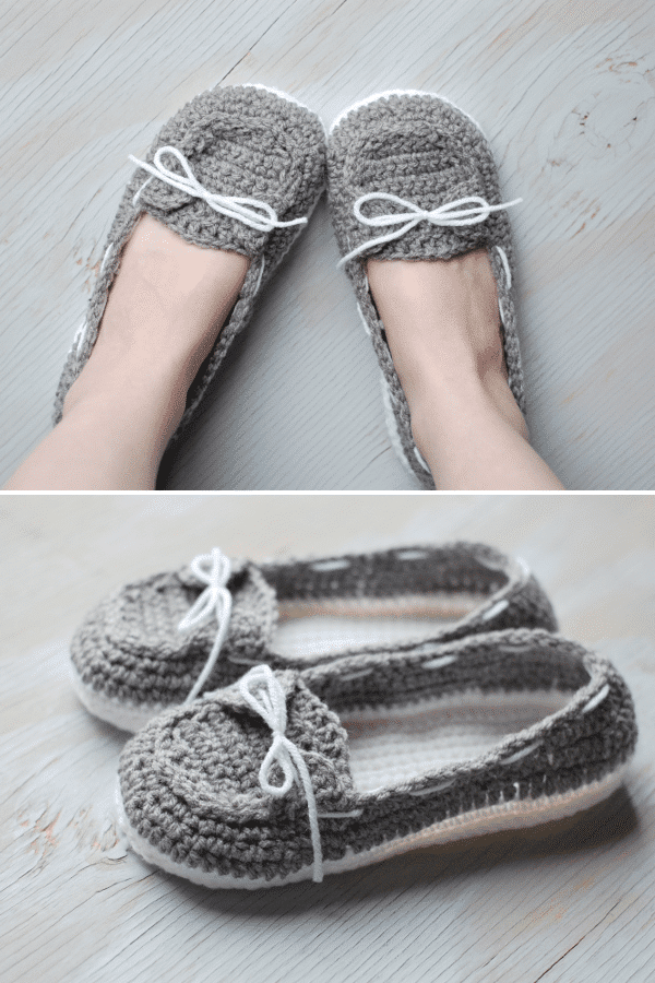 Women S Crochet Boat Slippers Whistle And Ivy