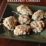 Caramel Banana Oatmeal Breakfast Cookies