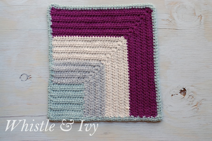 Crochet Patterns Block Afghan : Afghan CAL - Color Block Square - Whistle and Ivy