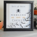 Bats and Boos Halloween Printable Shadowbox