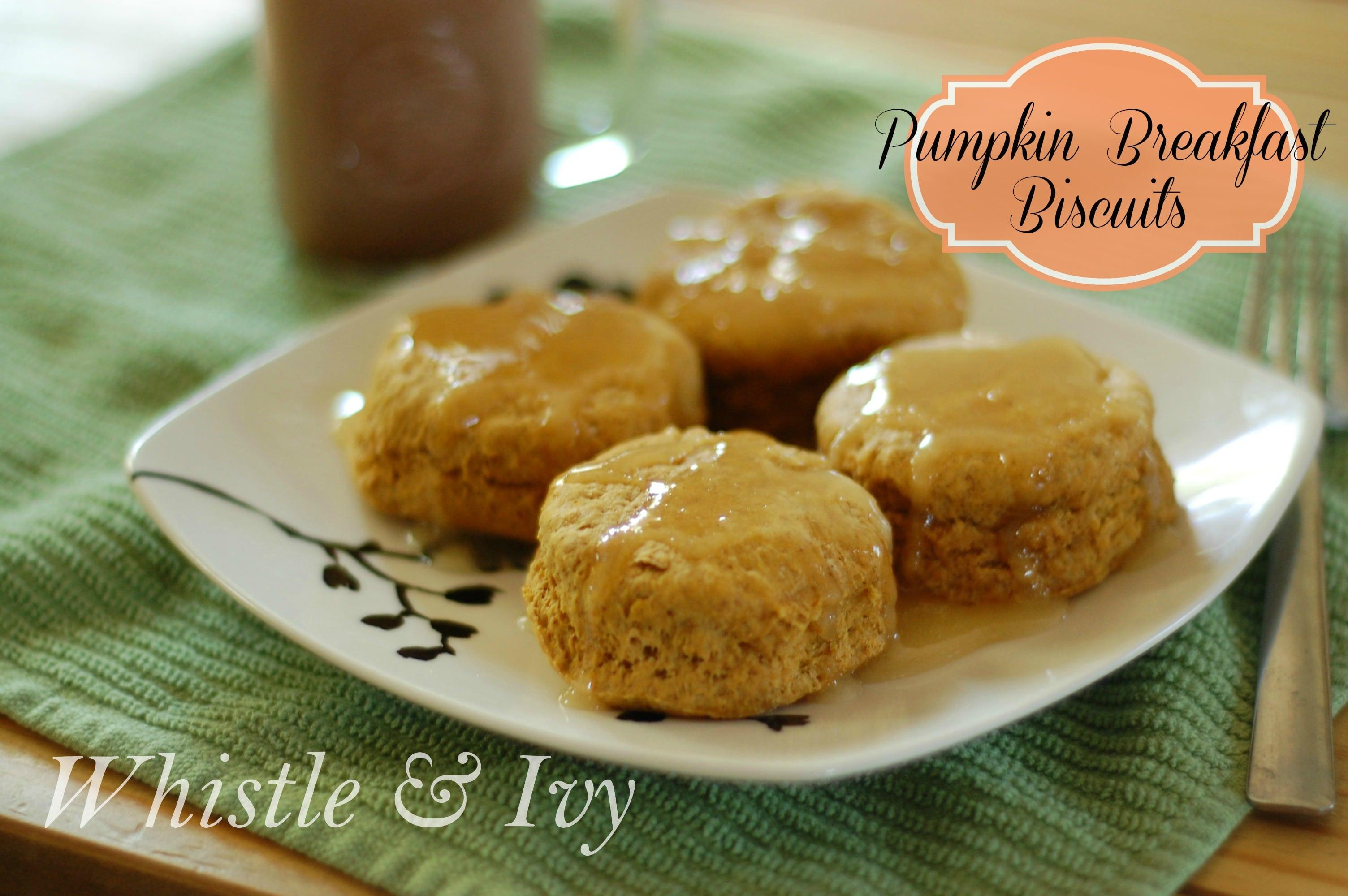 Pumpkin Spice Breakfast Biscuits - Perfect Fall Breakfast Recipe!