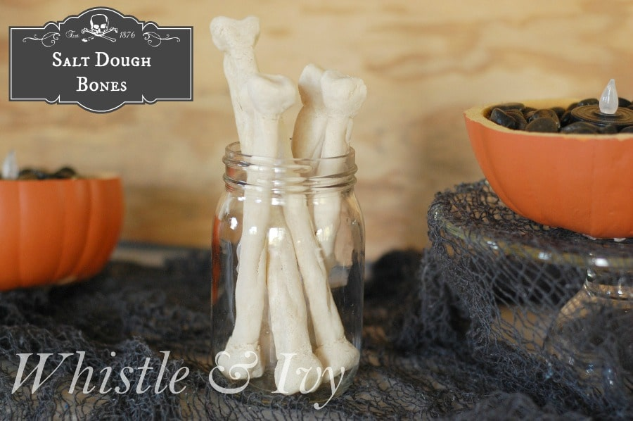 Salt Dough Bones - These bones make a fun addition to your Halloween display and are a perfect project for the kids!