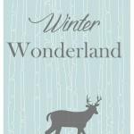 Winter Wonderland Christmas Printable