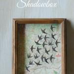 Map and Swallows Shadowbox