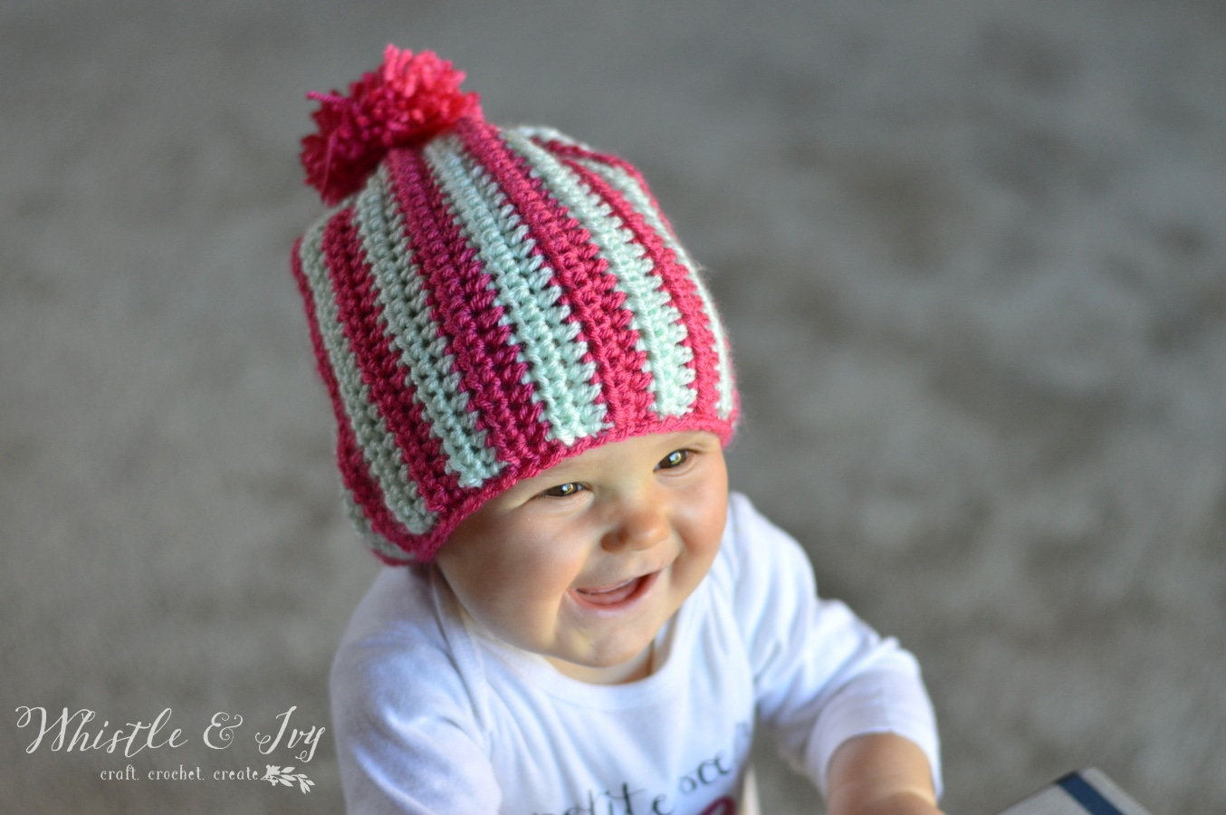 a4742380f31 Wonderland Blocks – A FREE Crochet Pattern · Crochet Vertical Stripe Baby  Beanie