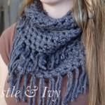 Chunky Fringe Infinity Scarf Crochet Pattern