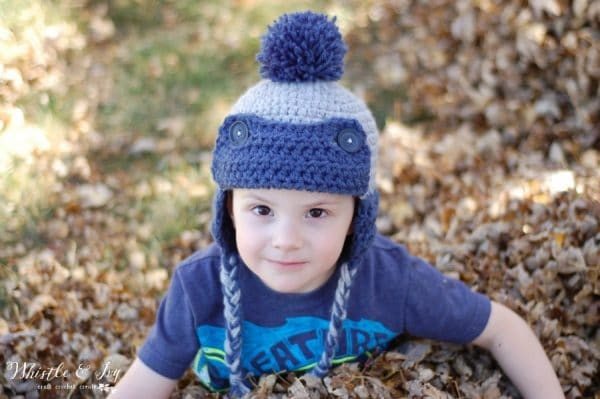Toddler Trapper Hat Free Crochet Pattern - Whistle and Ivy 18f151a6e5f