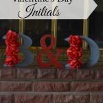 Lovers' Initials Valentine's Day Decor