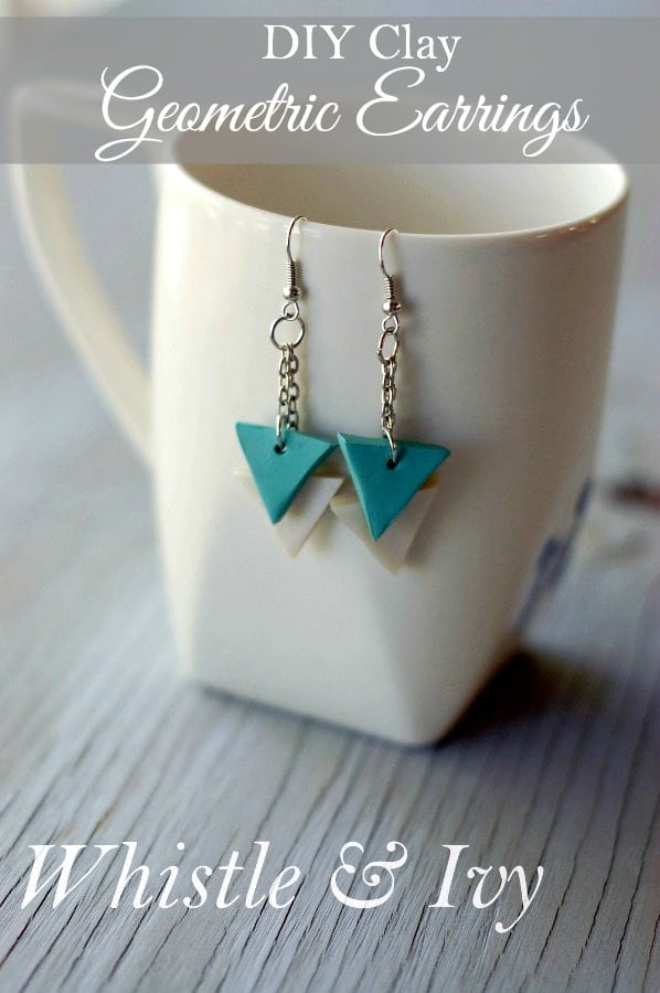 DIY Geometric Clay Earrings - Make your own jewelry with this easy and fun earring tutorial