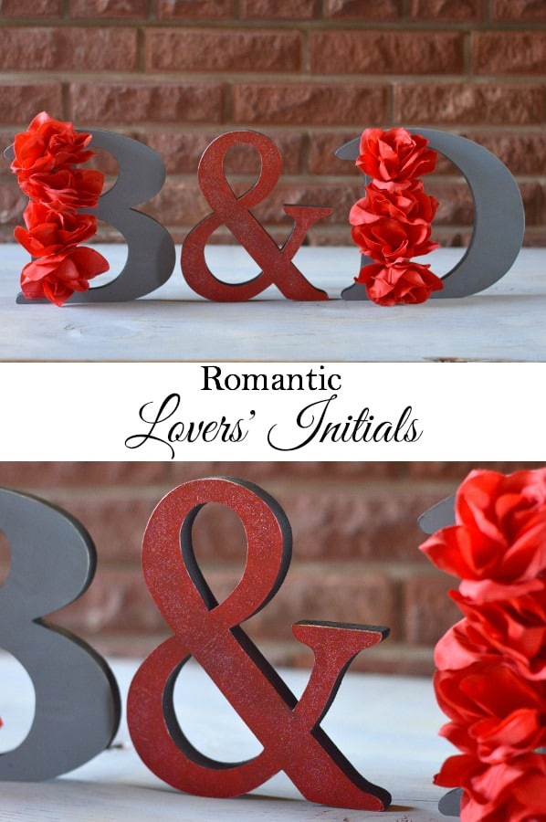 Lovers' Initials - Perfect romantic decor for Valentine's Day